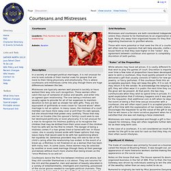 Courtesans and Mistresses - Crossroads Wiki