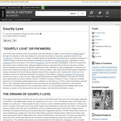Courtly Love - World History in Context