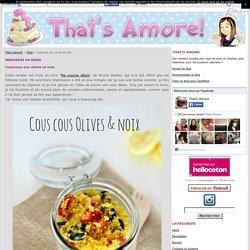 Couscous aux olives et noix