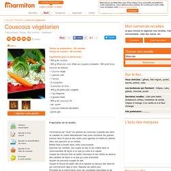 Couscous végétarien : Recette de Couscous végétarien