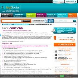 Coût CDD LégiSocial
