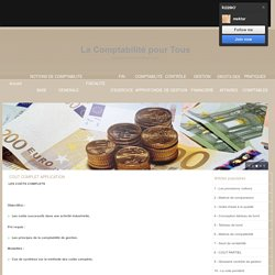 COUT COMPLET APPLICATION ... COUT COMPLET