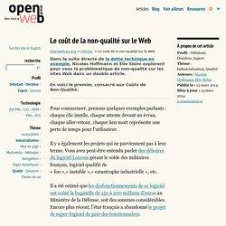 Le coût de la non-qualité sur le Web