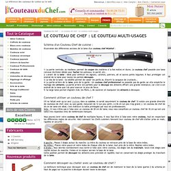 Le couteau de chef : Le couteau multi-usages - Couteauxduchef.com