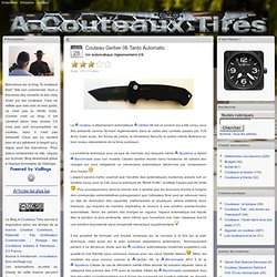 Couteaux - Couteau Gerber 06 Tanto Automatic