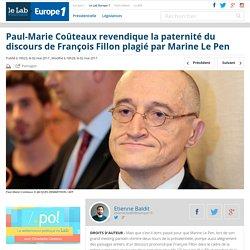 Paul-Marie Coûteaux revendique la paternité du discours de François Fillon plagié par Marine Le Pen - Le Lab Europe 1