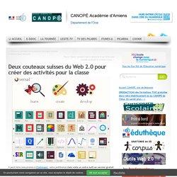 Deux couteaux suisses du Web 2.0 pour créer des activités pour la classe