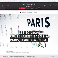 Les JO 2024 coûteraient 145M€ à Paris, 1Mrd€ à l'Etat - JO 2024 - Jeux Olympiques