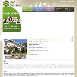 Gîte rural n°786001 à Couthures-sur-garonne dans la région de Val de garonne gascogne dans le Lot et Garonne