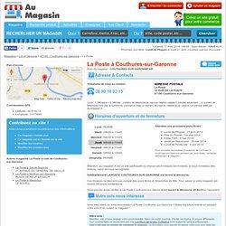 La Poste à Couthures-sur-Garonne (COUTHURES SUR GARONNE AP) : horaires, téléphone, etc - Au-Magasin.fr