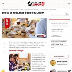 Les us et coutumes à table au Japon