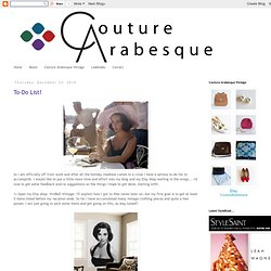 Couture Arabesque: December 2010