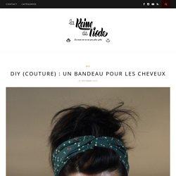 DIY (couture) : un bandeau pour les cheveux - La Reine de l'iode