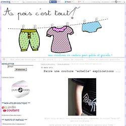 """Faire une couture """"echelle"""" explications ... - A pois c'est tout !"""