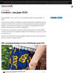 Couture : ma jupe d'été
