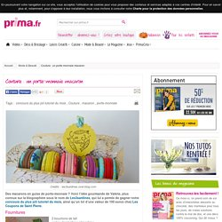 Couture : un porte-monnaie macaron