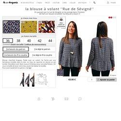 IT COUTURE La blouse à volant «Rue de Sévigné»