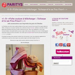 TUTO : Echarpe et sac Frou-Frou