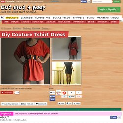 Diy Couture Tshirt Dress