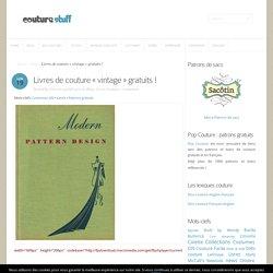"""Livres de couture """"vintage"""" gratuits !"""