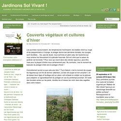Couverts végétaux et cultures d'hiver