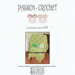Couverture pour bébé au crochet