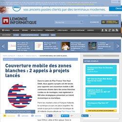 Couverture mobile des zones blanches : 2 appels à projets lancés