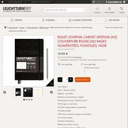 Bullet Journal Carnet Medium (A5) couverture rigide,240 pages numérotées, pointillés, noir – LEUCHTTURM1917