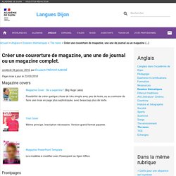 Créer une couverture de magazine, une une de journal ou un magazine complet.
