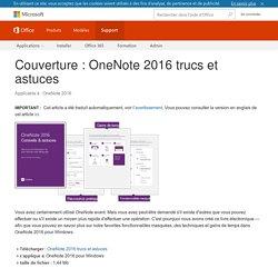 Couverture : OneNote 2016 trucs et astuces - OneNote