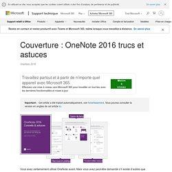 Couverture: OneNote 2016 trucs et astuces - OneNote