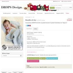 """Bundle of Joy / DROPS Baby 21-38 - Couverture DROPS tricotée au point mousse et point d'astrakan en """"Alpaca"""". - Free pattern by DROPS Design"""
