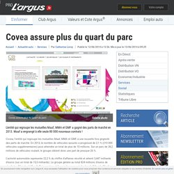 Covea assure plus du quart du parc – L'argus PRO