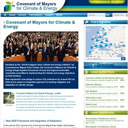Covenant of Mayors - Covenant of Mayors for Climate & Energy