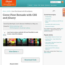 Cover Flow CSS & jQuery
