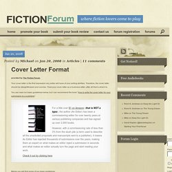 Cover Letter Format - Fiction Forum