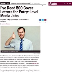 Cover letter writing advice: How to write a cover letter for an entry-level media job