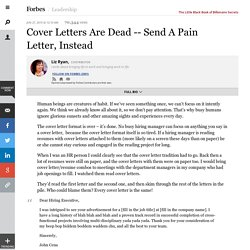Send A Pain Letter, Instead