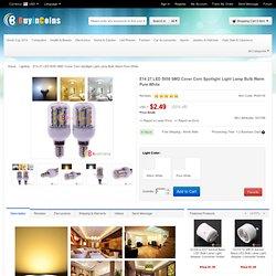 E14 27 LED 5050 SMD Cover Corn Spotlight Light Lamp Bulb Warm Pure White