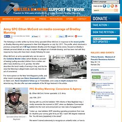 Army SPC Ethan McCord on media coverage of Bradley Manning
