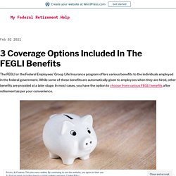 3 Coverage Options Included In The FEGLI Benefits