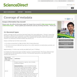 Coverage of metadata
