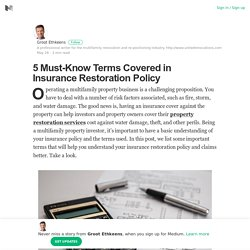 5 Must-Know Terms Covered in Insurance Restoration Policy