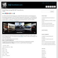 Coverflow CSS 3D Transforms