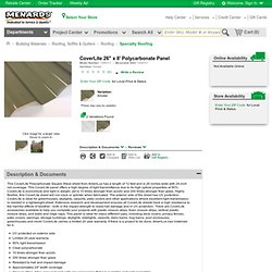 "Coverlite 26"" x 8' Panel at Menards"