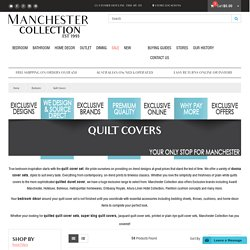Quilt Covers, Super King Quilt Cover, Quilt Cover Sets, Doona Cover Sets - Manchester Collection