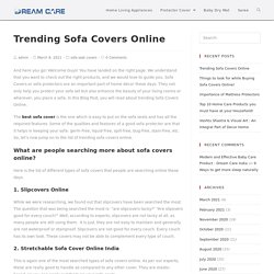 Sofa Covers Online- Get an insight of the Trending Sofa Covers!