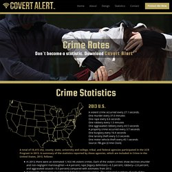 Crime Rates. Don't become a statistic. Download Covert Alert