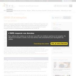 COVID-19 et entreprises - Actualité