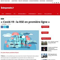 «Covid-19: la RSE en première ligne»